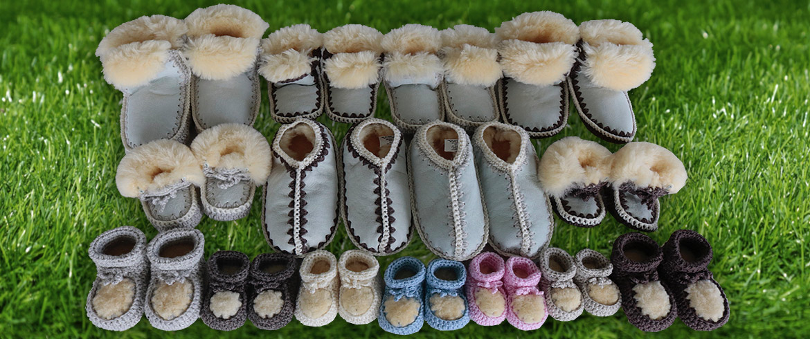 NZ Hand Made Sheepskin Slippers for Men, Women, Children and Babies